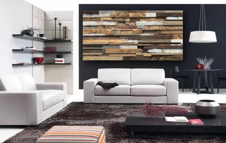 Large Wood Art FREE SHIPPING Reclaimed Wood Wall Art Rustic