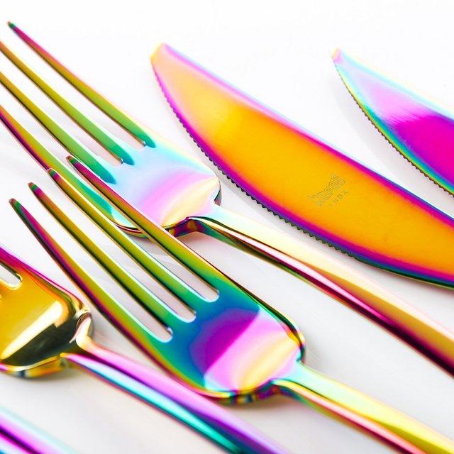 Linea Rainbow 24 Piece Cutlery Set