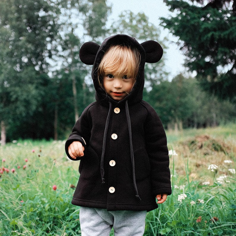 Little Mouse Coat  Hooded kids coat with tiny ears and tail