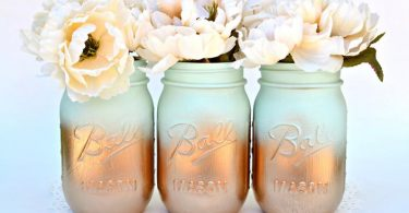 Mason Jars Bulk Gold Mason Jars Mint Decor Painted Mason