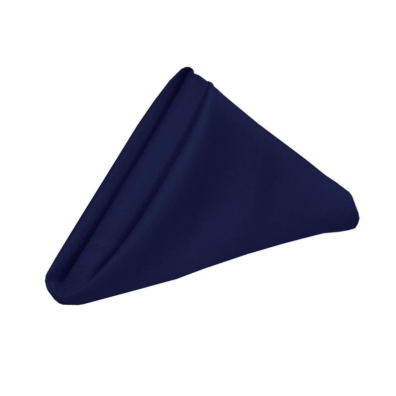 Navy Blue Napkin for Weddings Pack of 10  Wholesale Polyester