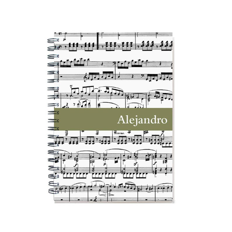 Personalized Music Journal Musician Gift Musician Notebook