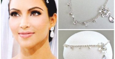 SALE Kim Kardashian inspired Crystal Bridal Headpiecewedding