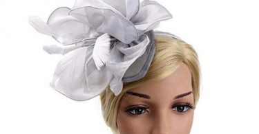 Silver Grey Sheer Satin Ruffle & Feather Fascinator  Occasion