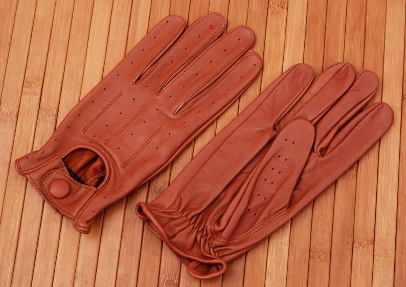 Soft sheep leather Fashion gloves