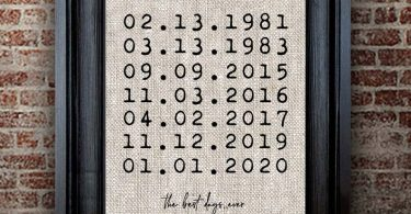 Special Dates Sign  The Best Dates Sign  Cotton Anniversary