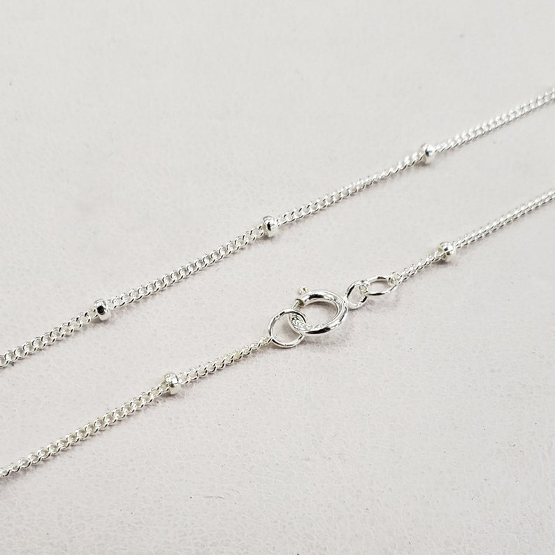 Sterling Silver 1.9mm Satellite Finished Chain Necklace 16
