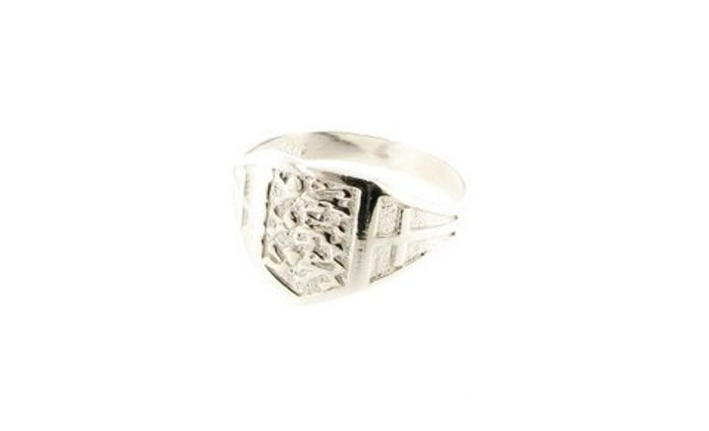 Sterling Silver Three Lions Crest Shield England Ring  UK