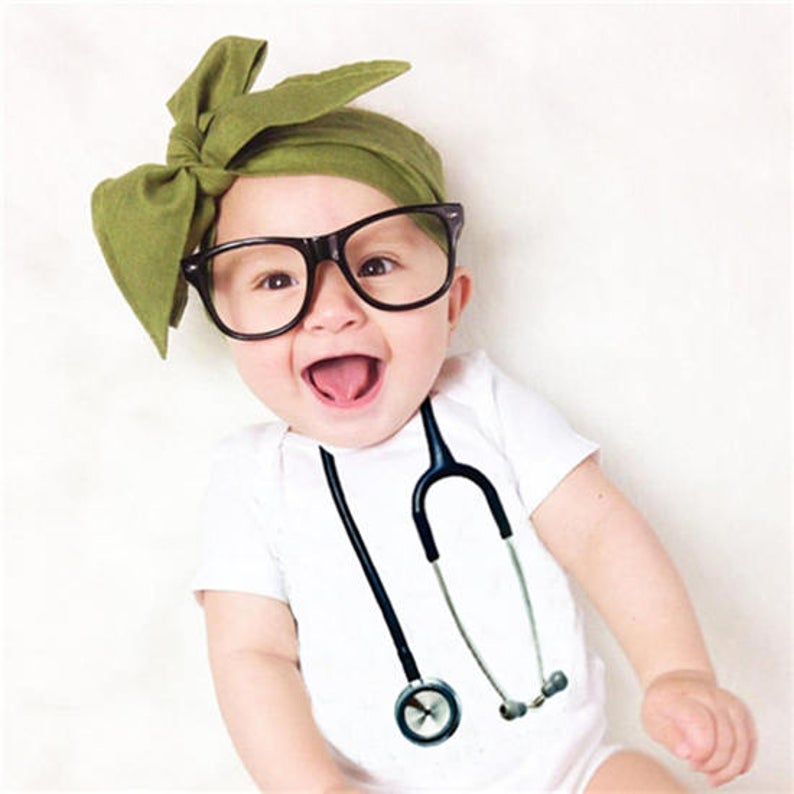 Stethoscope Baby Bodysuit Funny Baby Clothes Baby Nurse
