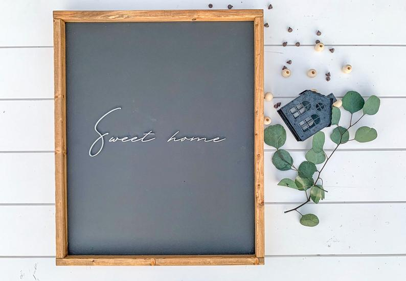 Sweet Home Sign / Home Sweet Home Sign / Wood Sign / Home Sign