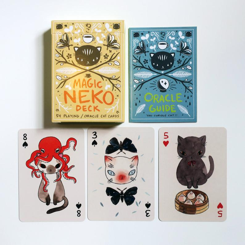 The Magic Neko Deck  Playing card and Oracle deck