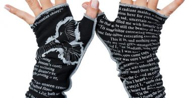 The Raven Writing Gloves  Fingerless Gloves Cotton Arm