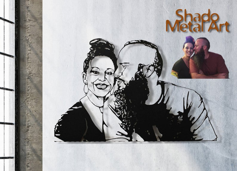 Unique Wedding Gift For Couple Custom Portrait Personalized