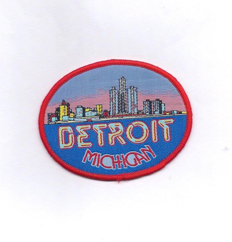 Vintage Detroit Michigan Patch