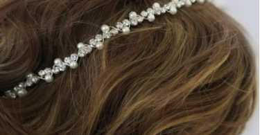 Vintage Inspired Bridal Headband Pearl and Rhinestone Art Deco