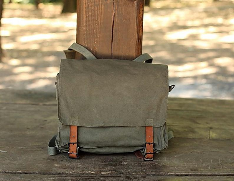 Vintage Military backpack Yugoslav Army 80 / Student bag /