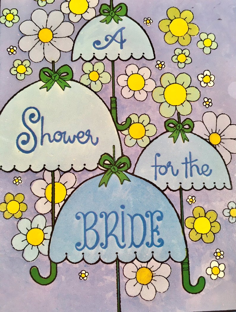 Vintage New Old Bridal Shower Invitations pack of 10 cards