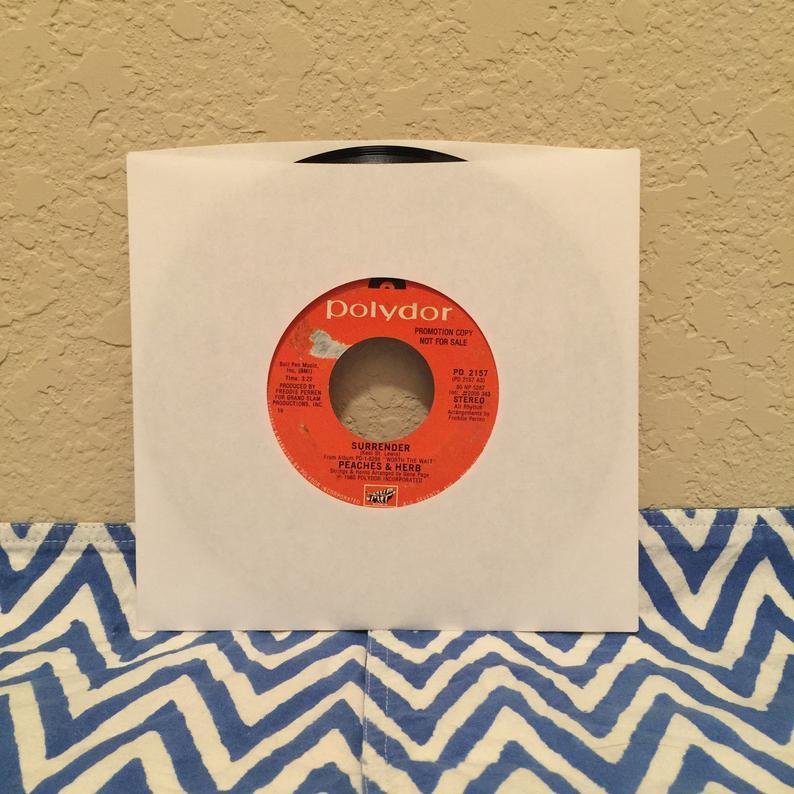 Vintage Peaches & Herb Surrender 45 Vinyl Record