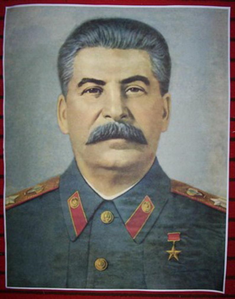 WW2 Russian Soviet leader Stalin propaganda wall poster
