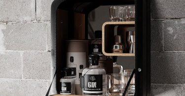 WWII Danish Fuel Bar Cabinet Nano Black
