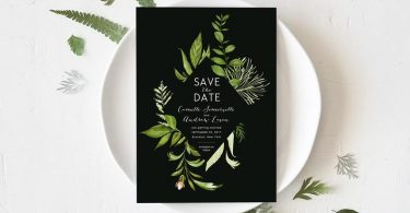 Wedding Save the Date Template Printable Save the Dates