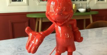 Welcome Mickey Sculpture Lacquered