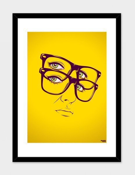 Yellow- Numbered Art Print by CranioDsgn from Curioos