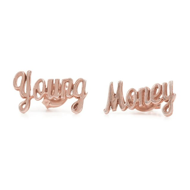 Young Money Studs-Rose Gold
