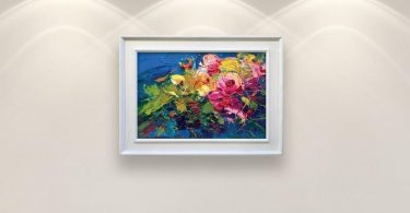 Abstract Flowers Painting on Canvas Original Art Pink Roses