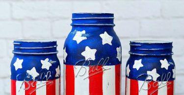 American Flag Mason Jars  Pints and Quarts