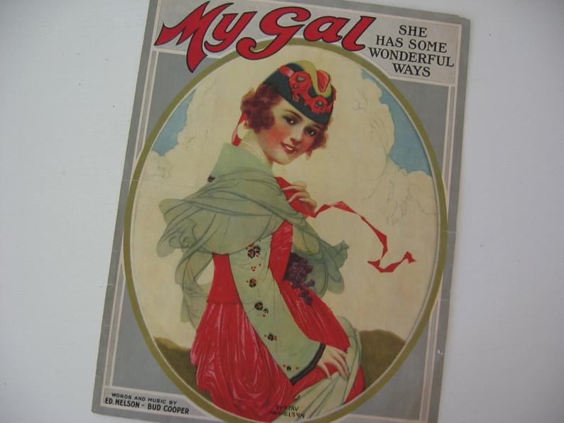 Antique Sheet Music My Gal Piano Sheet Music