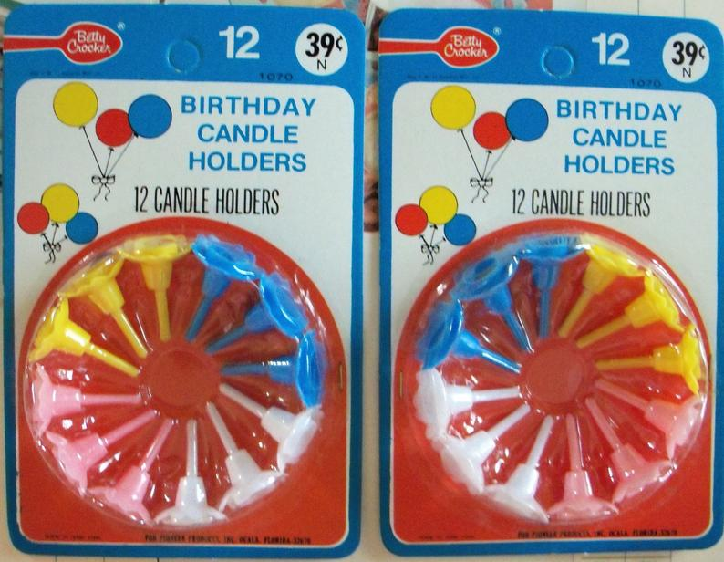 Betty Crocker R Birthday Candle Holders / Two Packages / 24