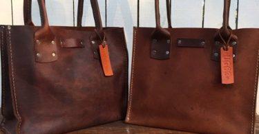 Big Savings Sale Distressed Brown Leather Handbag The Bella