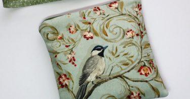 Bird Wristlet / Pouch / Coin Purse