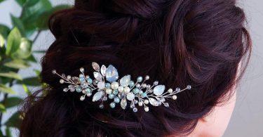 Blue opal Hair vine-Crystal Weddind Hair Comb Bridal Hair