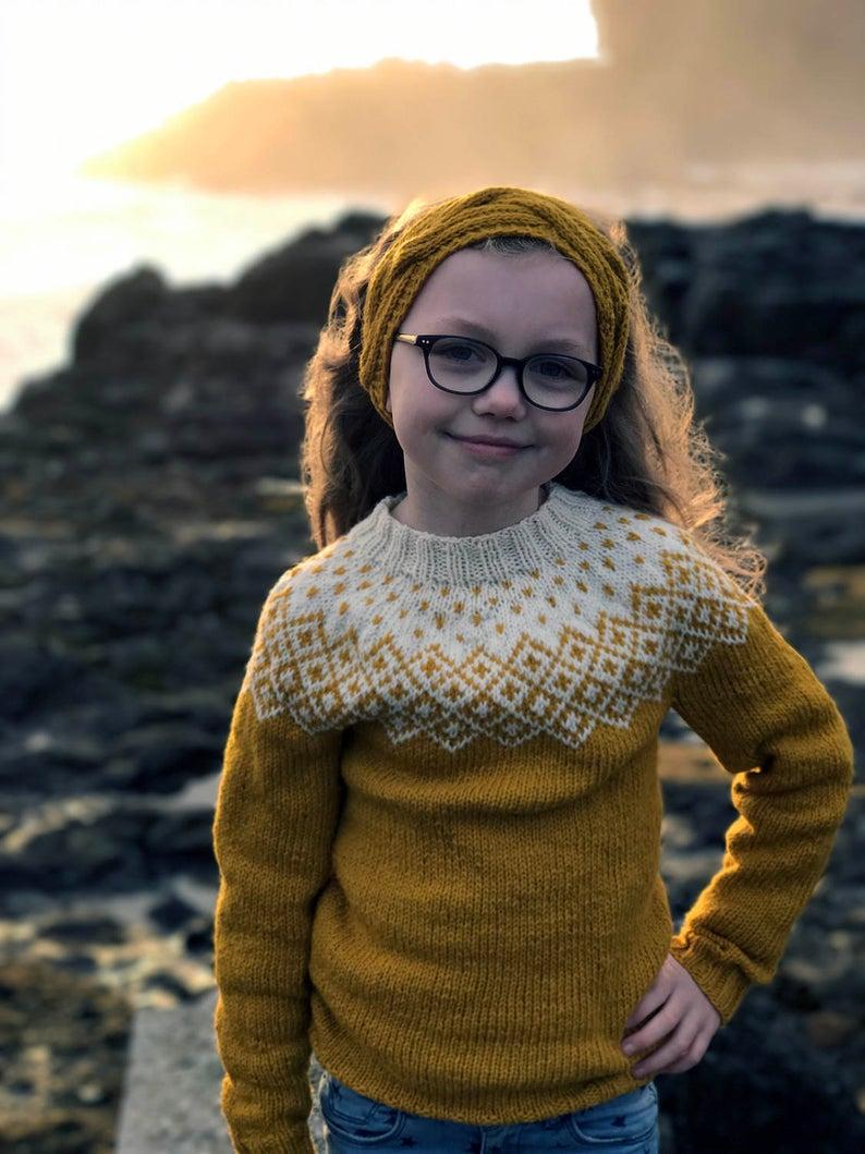 Bohme sweater for kids knitting pattern PDF pattern instant