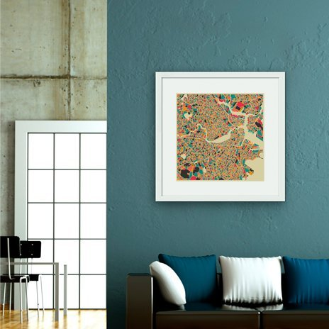 Boston, Fine Art Print by Jazzberry Blue
