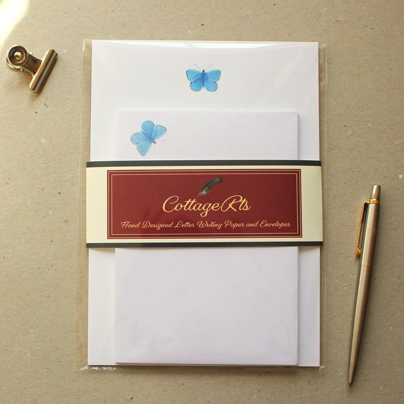 Butterfly Writing Paper  Letter Writing Set  Sheets and