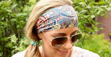 Buy 2 Get 1 FREE Yoga Headband Paisley Desert Headband for