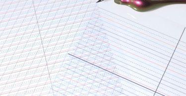 Custom Waterproof Calligraphy Guidelines Reusable Guide Lines