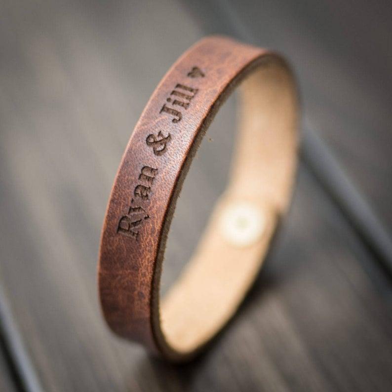 Customized Bracelet Personalized Bracelet Leather Bracelet