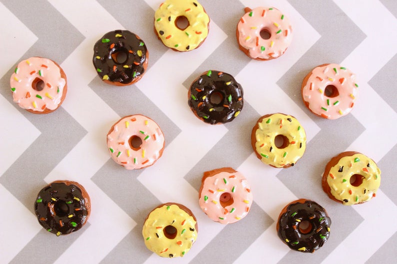 DONUT SLIME CHARMS fluffy slime slime supplies clear slime