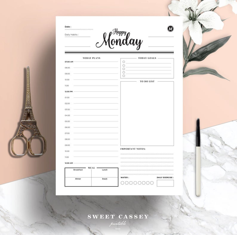 Daily PlannerDay PlannerProductivity PlannerWork
