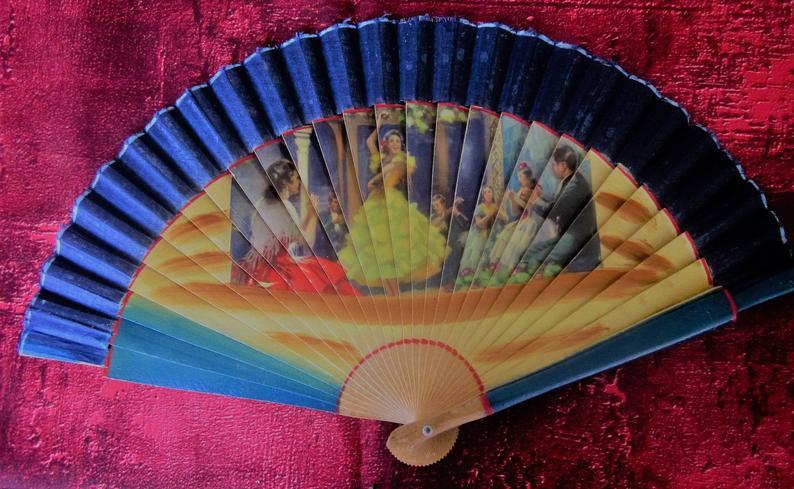Danse espagnola Flamenco Dance espagnol ventail en  bois