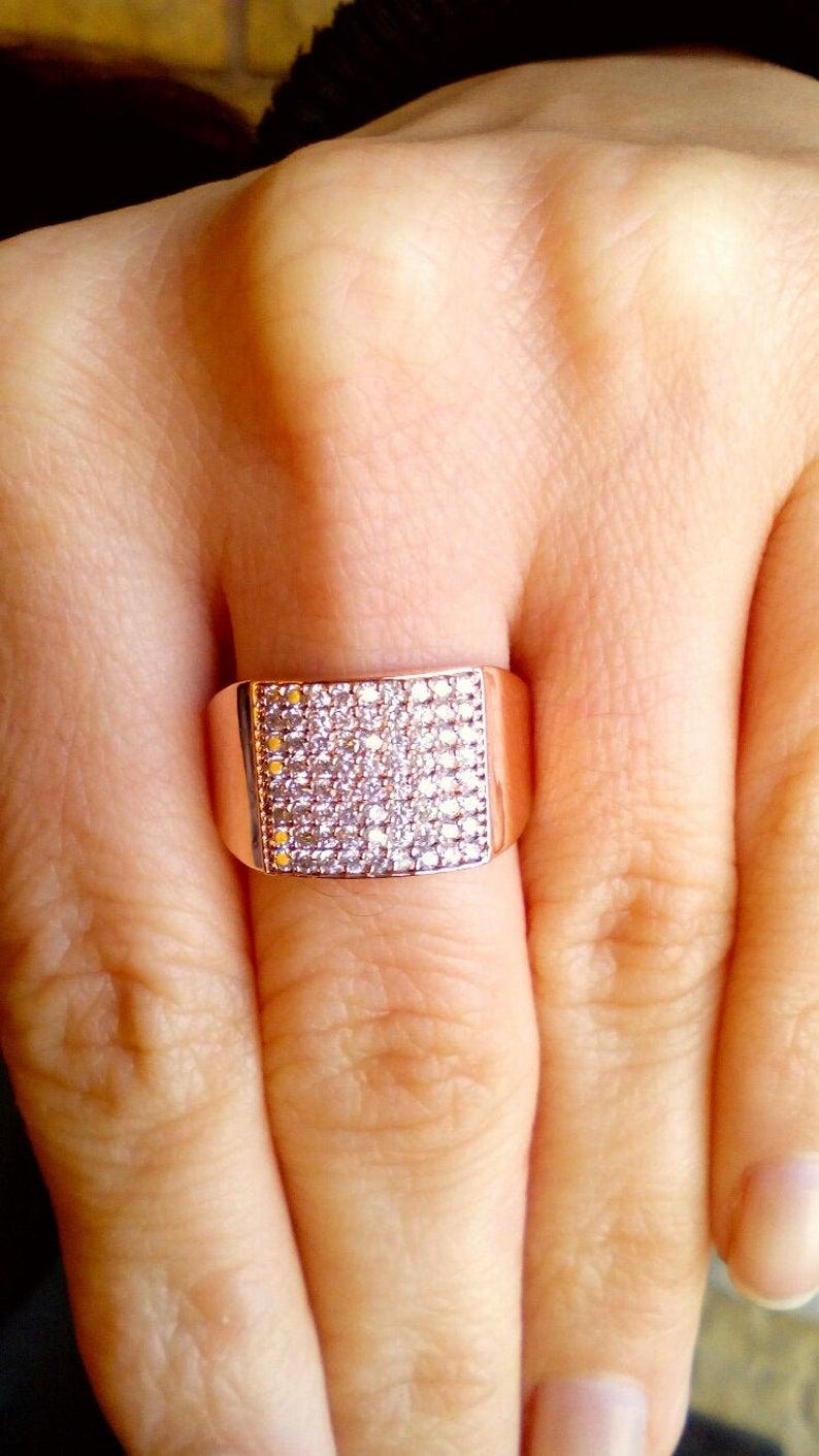 Diamond Ring / Rose Gold Ring / Midi Ring / Gold Ring