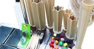 Equipment for making carved candles water bath. wax candle