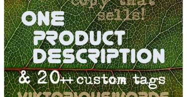 Etsy Shop SEO Product Description with Tags and Title
