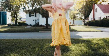Girl's Yellow Princess Ballgown Dress  Girl's Yellow