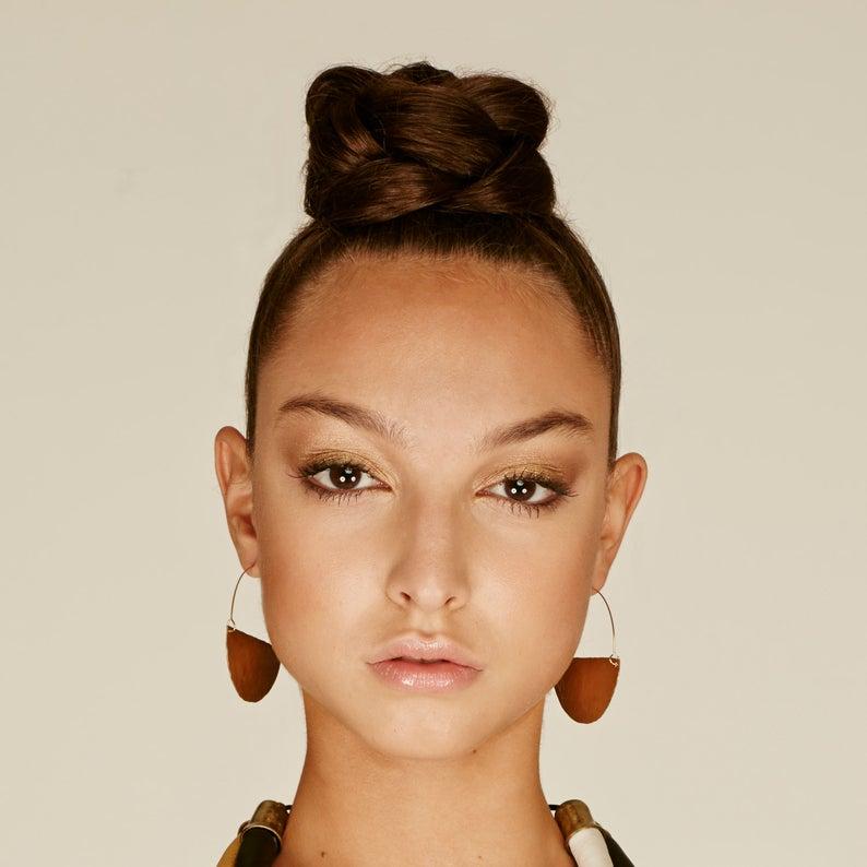 Hoops earrings Brass earrings lightweight earrings Daily