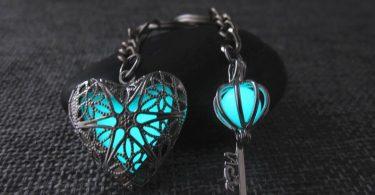 Key to my heart keychainglow in the dark keychainCouples key